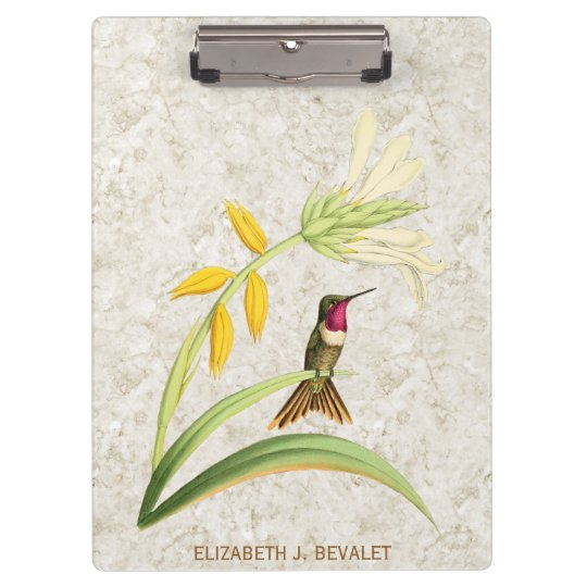 Magenta Throated Wood Star Hummingbird Clipboards