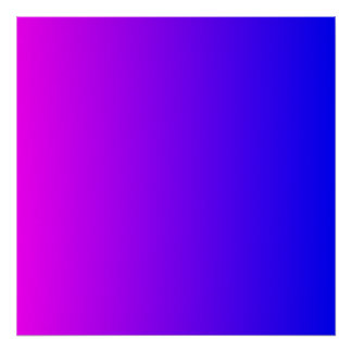 Magenta to Blue Gradient Poster