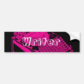 Magenta Type Writing Machine Bumper Sticker
