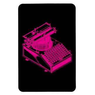 Magenta Type Writing Machine Rectangular Photo Magnet