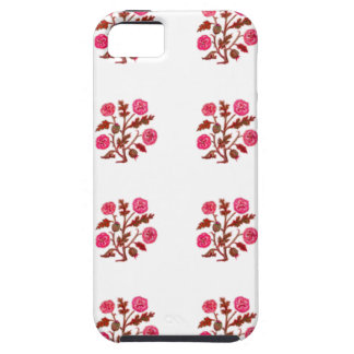 Magenta Vintage Embroidery Style Flowers iPhone 5 Cases