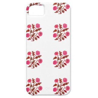 Magenta Vintage Embroidery Style Flowers iPhone 5 Cover
