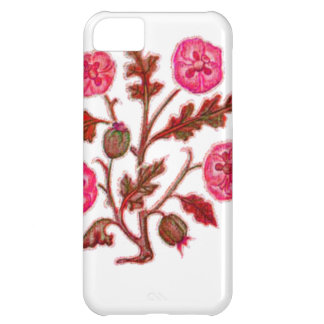 Magenta Vintage Embroidery Style Flowers iPhone 5C Covers