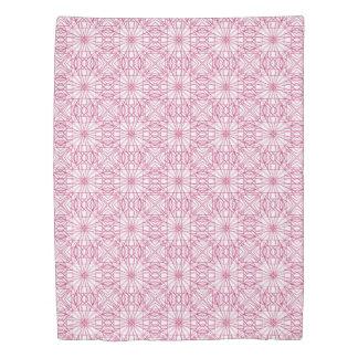 Magenta & White Geometric Pattern Duvet Cover