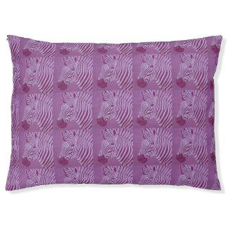 Magenta Zebra Dog Bed
