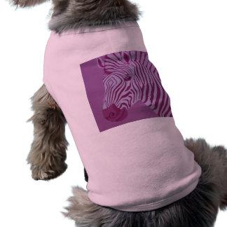Magenta Zebra Dog Shirt