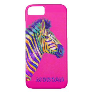 magenta zebra iPhone 7 case
