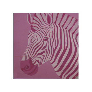 Magenta Zebra Wood Wall Panel