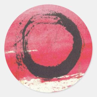 Magenta Zen Circle Classic Round Sticker