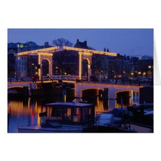 "Magere Brug, ""Skinny Bridge"", double-leaf drawbrid Card"