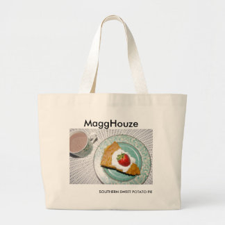 MaggHouze Southern Sweet Potato Pie Large Tote Bag