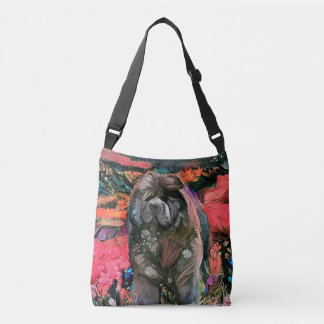 MAGGIE black chow tote or cross body