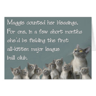 Maggie counted her blessings card