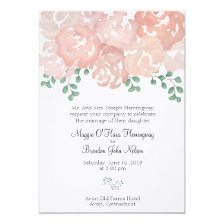 Maggie Hemingway Wedding Invitation