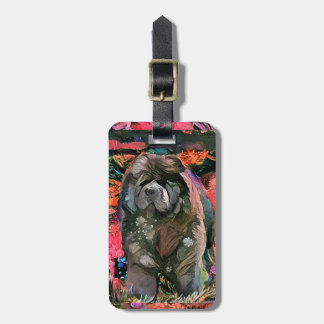 MAGGIE the black chow luggage tag