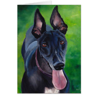 Maggie the Greyhound Dog Art Note Card