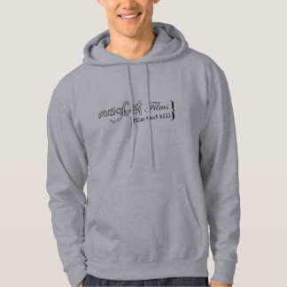 magGot Films logo with White Room Back Hoodie