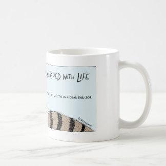 Maggot in a dead end job coffee mug