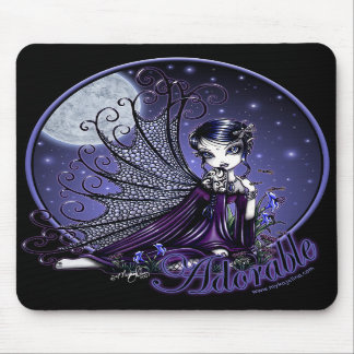 """""""Maggy"""" Mousepad Victorian Gothic Moon Faery"""