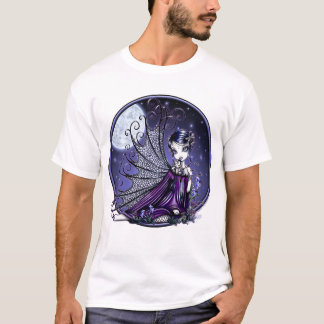 """Maggy"" Plum Dragonfly Fairy Art Shirt"