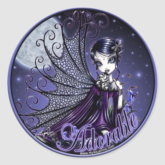 """Maggy"" Stickers Victorian Gothic Moon Light Fairy"