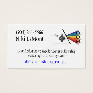 Magi Logo, Certified Magi Councelo... - Customized Business Card
