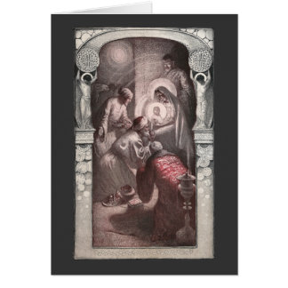 Magi Visiting Christ with Gifts Card