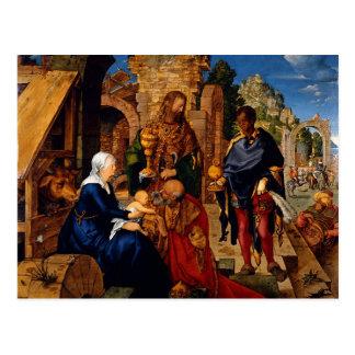 Magi Worship Baby Jesus Postcard
