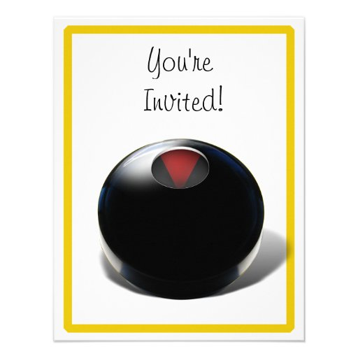 Magic 8 Ball ( Add Your Answer) Personalized Invitations