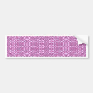 Magic Abstracts Pink and Purple Bumper Sticker
