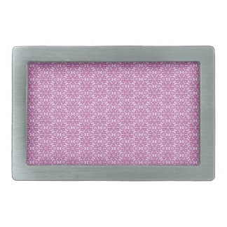 Magic Abstracts Pink and Purple Rectangular Belt Buckle