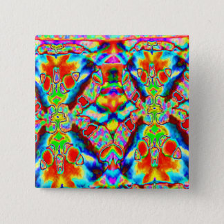 Magic alien patterns 2 inch square button