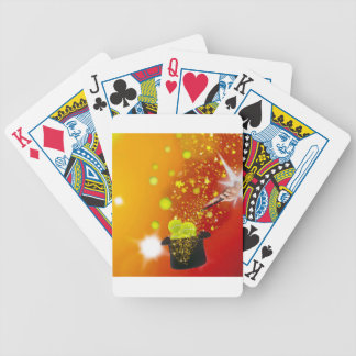 Magic also takes place in tennis bicycle playing cards