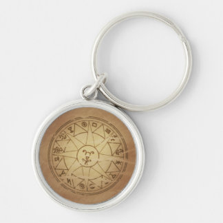 Magic Amulet for Safe Travel Magic Charms Silver-Colored Round Keychain