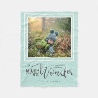 Magic and Wonder Christmas Photo Mint ID440 Fleece Blanket