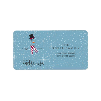 Magic and Wonder Christmas Snowman Blue ID440