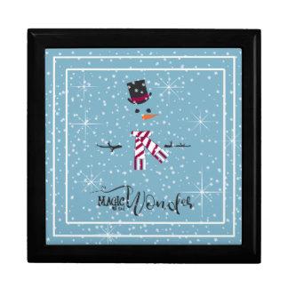 Magic and Wonder Christmas Snowman Blue ID440 Gift Box