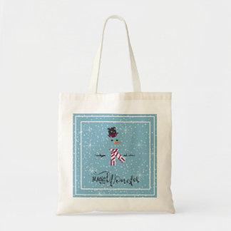 Magic and Wonder Christmas Snowman Blue ID440 Tote Bag