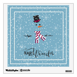 Magic and Wonder Christmas Snowman Blue ID440 Wall Sticker