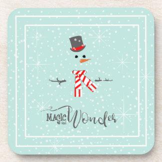Magic and Wonder Christmas Snowman Mint ID440 Coaster