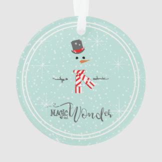 Magic and Wonder Christmas Snowman Mint ID440 Ornament