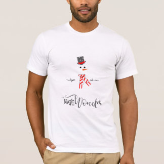 Magic and Wonder Christmas Snowman Mint ID440 T-Shirt
