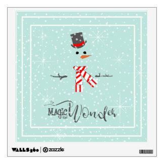 Magic and Wonder Christmas Snowman Mint ID440 Wall Sticker