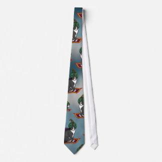 Magic Carpet Cat, patterned tie
