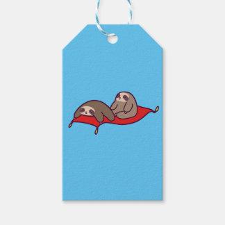 Magic Carpet Sloths Gift Tags