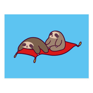 Magic Carpet Sloths Postcard