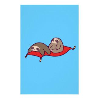 Magic Carpet Sloths Stationery Design