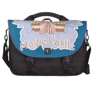 Magic Castle with wings cartoon illustration Laptop Computer Bag