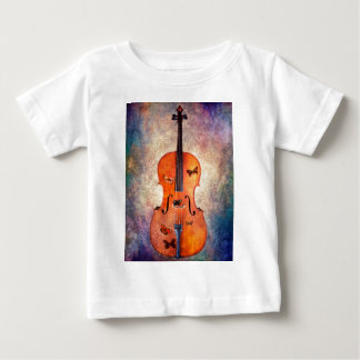 Magic cello with butterflies baby T-Shirt