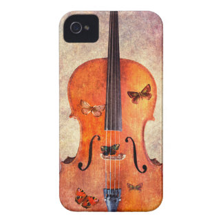 Magic cello with butterflies iPhone 4 Case-Mate case